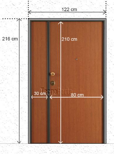 Medidas para portas brindadas tecnoporta com 2 folhas ou um batente fixo ou movel