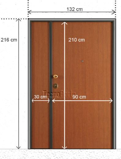 Medidas de portas blindadas Tecnoporta com 2 folhas