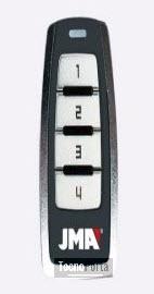 Comando jma com 4 botões em branco e caixa preta