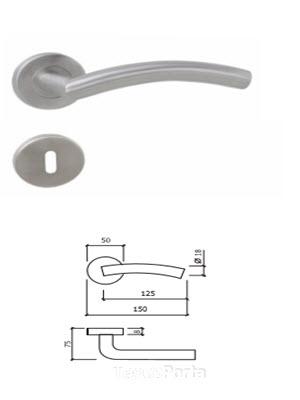 Puxador inox tecnoporta 8036