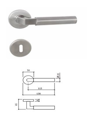 puxador inox tecnoporta modelo 8039