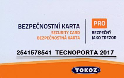 cartão de segurança tokoz