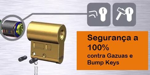 Segurança total contra gazuas e chaves bumping