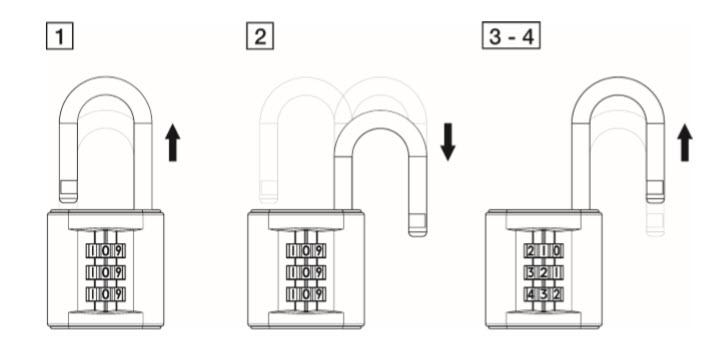 instruções cadeados tokoz delta