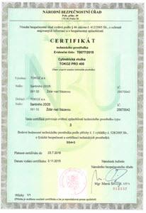 certificado de qualidade tokoz