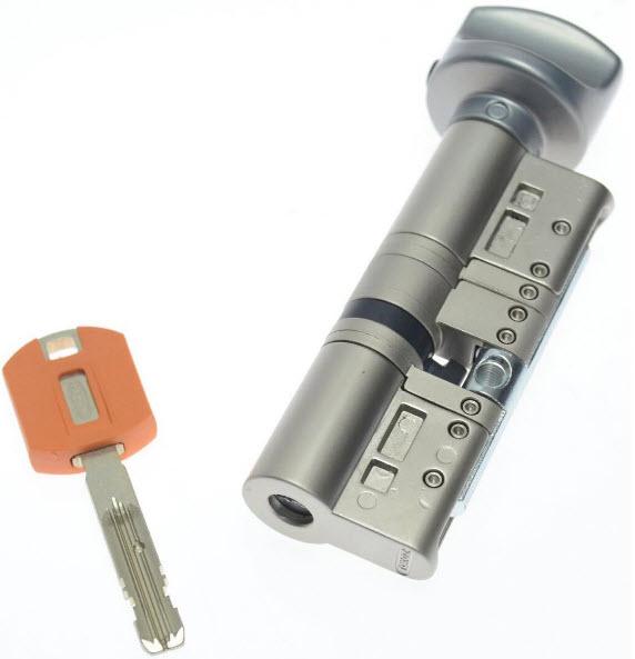 Cilindro de segurança Tokoz com chave e botão