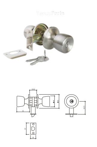 Fechadura glk tubular 570 g