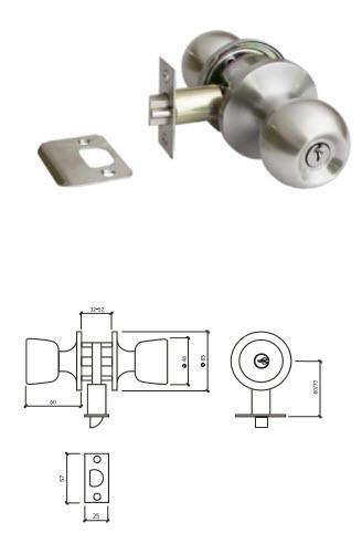Fechadura tubular GLK 607G