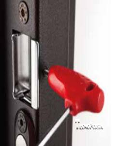Afinar o trinco da porta blindada