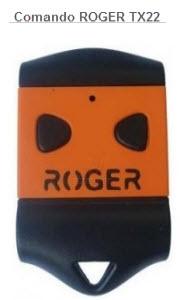 Comando para automatismo da marca Roger modelo tx22