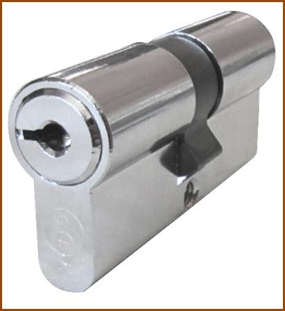 Cilindro de alta segurança GLK com 5 chaves incopiaveis
