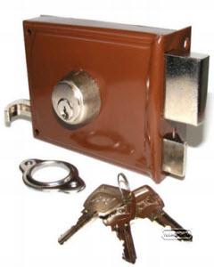 fechadura crc com 3 chaves tipo yale