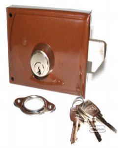 Fechadura CRC com sistema de gancho para portas de correr