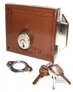 fechadura crc com sistema de garras para portas de folha normal e portas e portões de correr