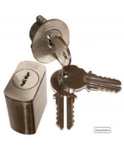 jogo de cilindros com chaves de 2 entradas