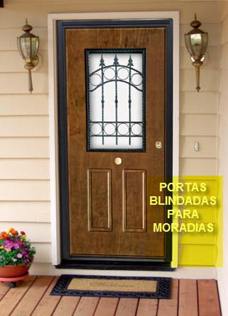 PORTAS BLINDADAS PARA MORADIAS