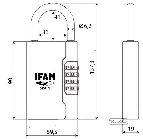 medidas do chaveiro ifam g3