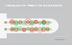 LINHA DE PINOS DESCENTRADA