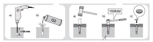 manual de fixação de um cofre de segurança