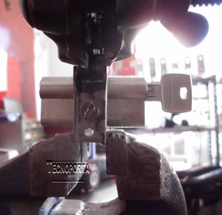 fixação do cilindro