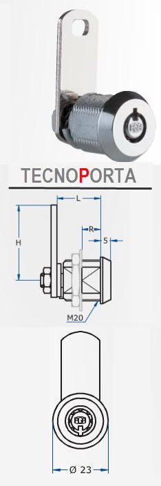 Cilindro Aga referencia 799 com chaves tubulares