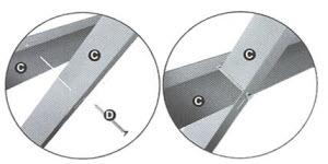 passo 4 da montagem do pre aro das portas blindada tecnoporta
