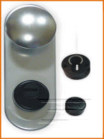 punho e espelho exterior em cromado fabricado em alumínio