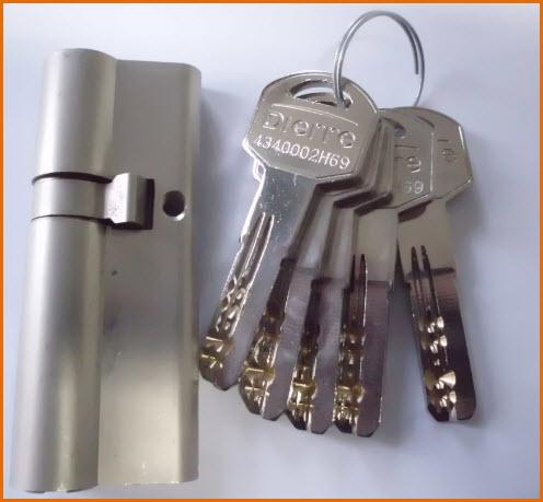 cilindro 30/50 com 5 chaves de Pontos