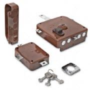 Fechadura dierre com 4 trancas em H e chaves com sistema de bomba
