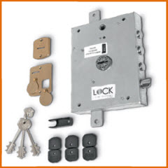 Fechadura Dierre para portas blindadas com sistema anti gazua com 3 trancas principais + trinco