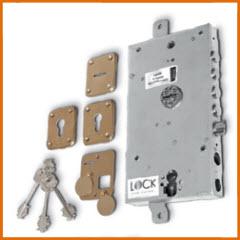 Fechadura dierre para portas blindadas com sistema anti gazuas e cilindro para dupla fechadura com acesso de serviço