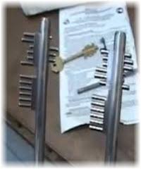 gazuas mecânicas que abrem as fechaduras de duplo palhetão