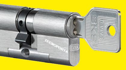 Cilindro de segurança com sistema de chaves evva 3ksplus