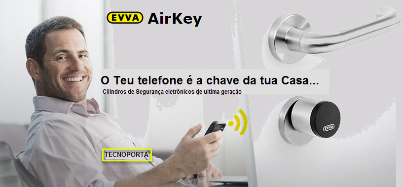 Com os cilindros Airkey a sua chave pode ser um cartão, um chip ou o seu telemóvel