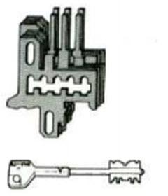 jogo de 6 cachetas com 3 chaves telescópicas para fechaduras cisa 57165