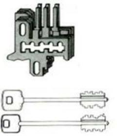 Conjunto de 6 cachetas em aço com 3 chaves telescópicas mais uma chave de  Serviço para fechaduras de segurança Cisa de sobrepor.