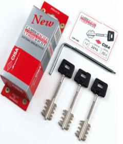 Conjunto de 3 chaves para mudança manual das fechaduras cisa instaladas em diversas marcas de portas blindadas, conjunto vendido em caixa selada