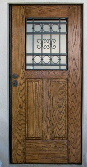 Porta Blindada Tecnoporta para moradia, com janela em vidro blindado