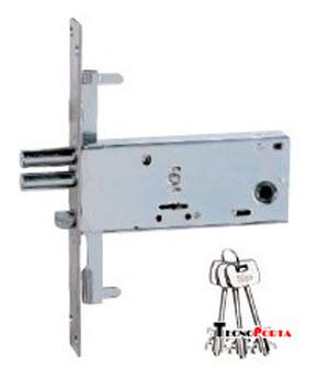 Fechadura iseo 2 trancas para portas de alumínio