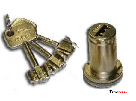 Cilindro de segurança Iseo com 3 chaves de bomba