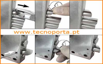 esquema técnico para virar o trinco as fechaduras Mottura