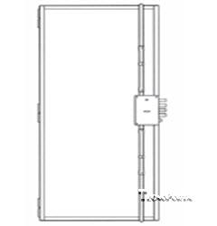 esquema de montagem de fechadura com 2 trancas verticais