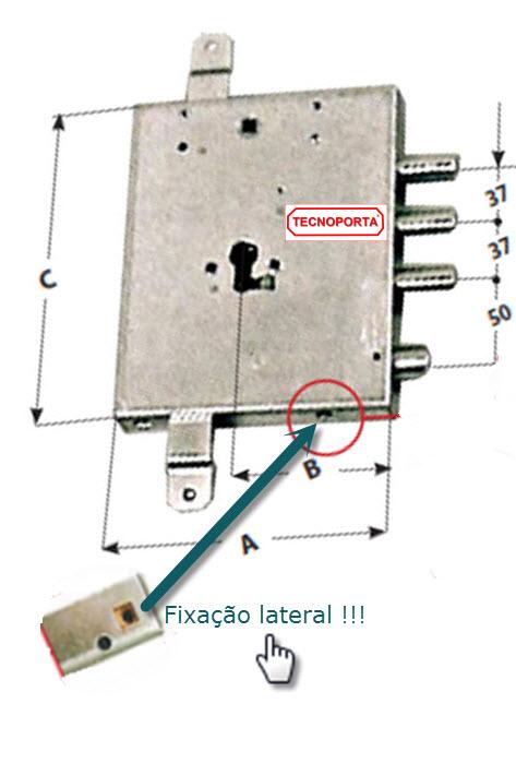 Fechadura Mottura para portas blindadas Gardesa com sistema de cilindro