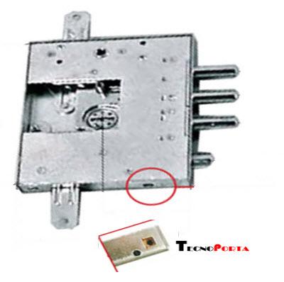 Fechadura Mottura com dimensões para as portas blindadas gardesa com núcleo de 4 voltas