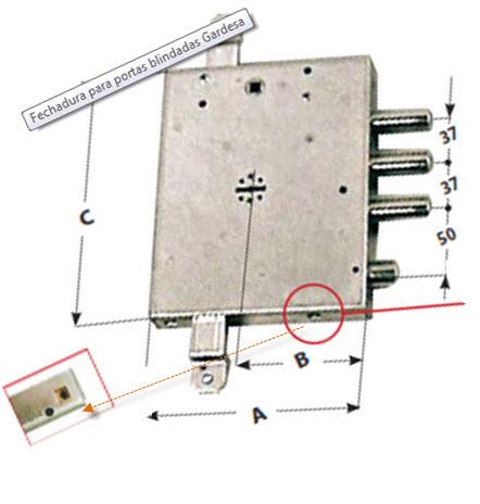 Fechadura mottura com chaves de duplo palhetão para instalar em portas blindadas gardesa