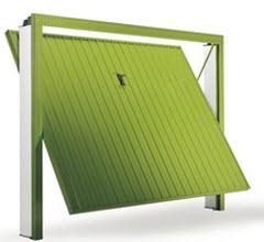 Portão Fabricado em aço Galvanizado pintado em verde