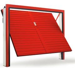 Portão fabricado em aço Galvanizado com acabamento em Vermelho