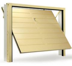 Portão fabricado em aço galvanizado com acabamento em cor pérola