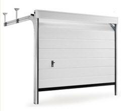 Portão Seccionado fabricado por medida com acabamento em branco
