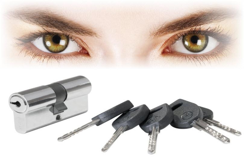 Cilindros de segurança glk com 5 chaves